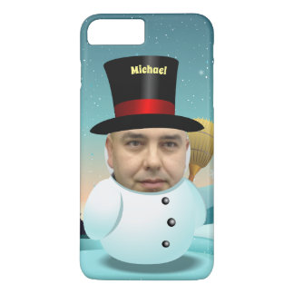 Snowman Cartoon With Your Own Face iPhone 8 Plus/7 Plusケース