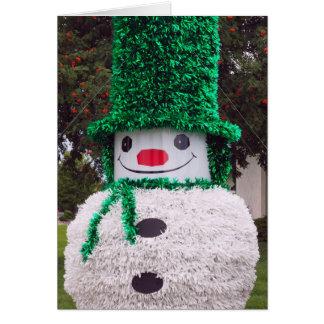 Snowman Christmas Card カード