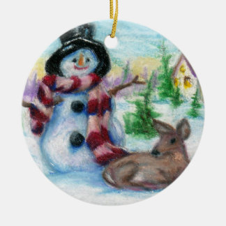 Snowman Ornament氏 セラミックオーナメント