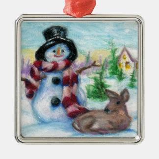 Snowman Ornament氏 メタルオーナメント