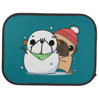 Snowman & Pug set カーマット