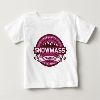 Snowmassのラズベリー ベビーTシャツ