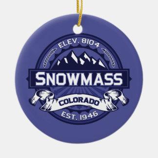 Snowmassの真夜中 セラミックオーナメント
