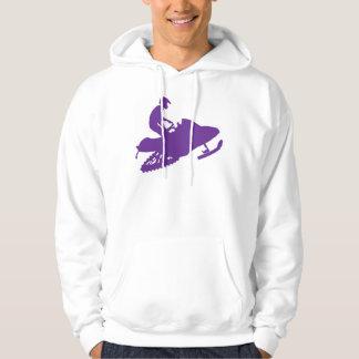 Snowmobilerか紫色のそり パーカ
