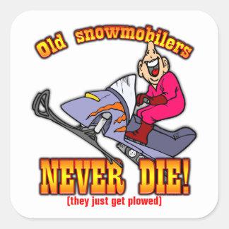 Snowmobilers スクエアシール