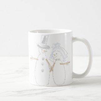 Snowpeopleの新郎新婦 コーヒーマグカップ