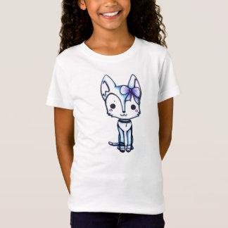 Snowyのハスキーな女の子のティー Tシャツ