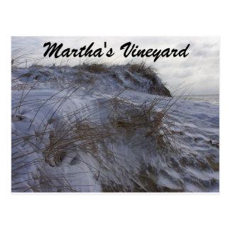 Snowyのビーチのマーサのブドウ園の郵便はがき ポストカード