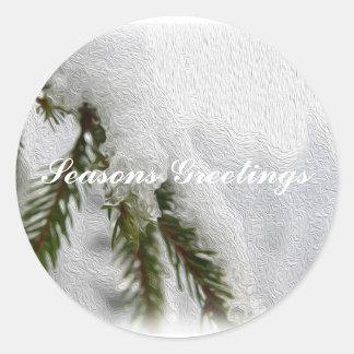 Snowyのマツ ラウンドシール