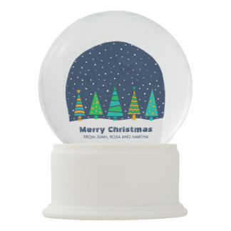 Snowyのモミの木Snowglobe スノーグローブ