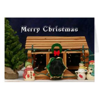Snowyのモルモットのクリスマスカード カード