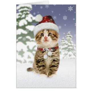 Snowyの子ネコのクリスマスカード カード