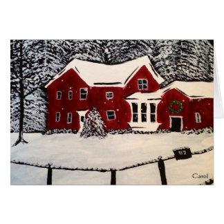 Snowyの家の休日カード カード