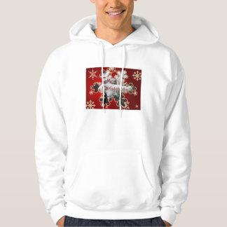 Snowyの小ぎれいなメリークリスマスのフード付きスウェットシャツ パーカ