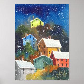 Snowyの山腹の家 ポスター