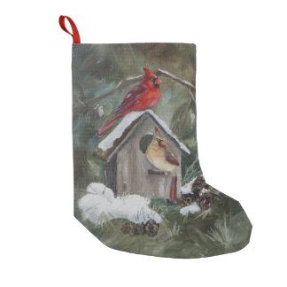 Snowyの巣箱の(鳥)ショウジョウコウカンチョウ スモールクリスマスストッキング