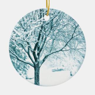 Snowyの枝 セラミックオーナメント