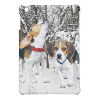 Snowyの森のビーグル犬の子犬 iPad Miniカバー