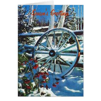 Snowyの車輪、季節の挨拶 カード