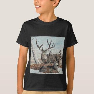 Snowyの隆起部分の木びき台 Tシャツ