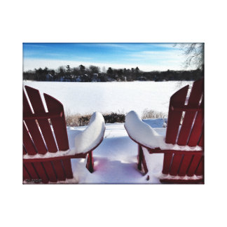 SnowyのAdirondacks キャンバスプリント