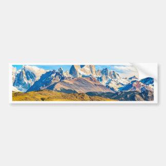 Snowyアンデス山、El Chalten、アルゼンチン バンパーステッカー