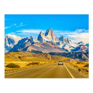 Snowyアンデス山、El Chalten、アルゼンチン ポストカード