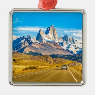 Snowyアンデス山、El Chalten、アルゼンチン メタルオーナメント