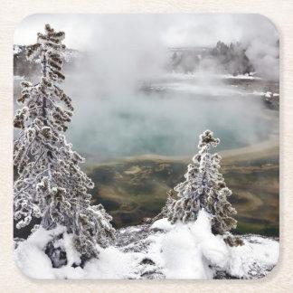 Snowyイエローストーン スクエアペーパーコースター