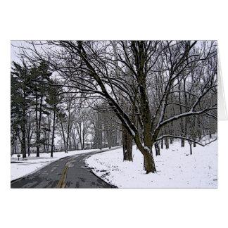 Snowy冷たい日のドライブ カード