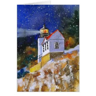 Snowy夜灯台カード カード