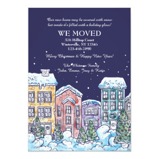 Snowy夜移動発表 12.7 X 17.8 インビテーションカード