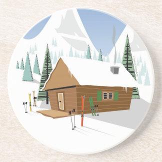 Snowy山のスキー小屋 コースター