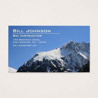 Snowy山の写真-名刺 名刺