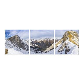 Snowy山の谷-トリプティク キャンバスプリント