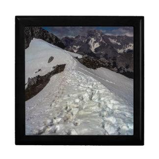 Snowy山の足跡 スクエアギフトボックス大