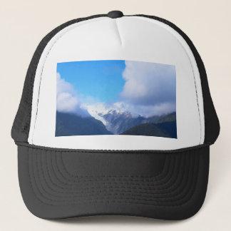 Snowy山、ニュージーランドの氷河、空中写真 キャップ