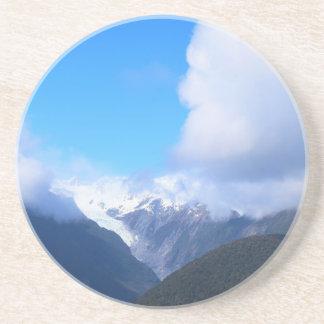 Snowy山、ニュージーランドの氷河、空中写真 コースター