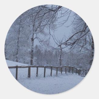 Snowy日 ラウンドシール