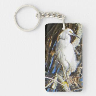 Snowy白鷺のキーホルダー キーホルダー