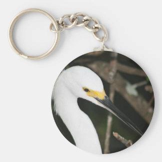 Snowy白鷺の渡る鳥 キーホルダー