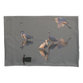 Snowy白鷺の鳥の沼地の野性生物の枕カバー 枕カバー