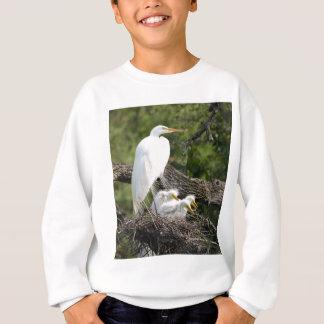 Snowy白鷺家族 スウェットシャツ