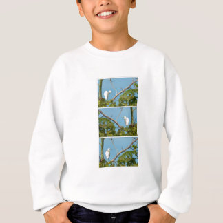 Snowy白鷺 スウェットシャツ
