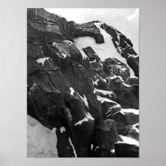 Snowy白黒山 プリント