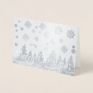 Snowy Forest foil Christmas Card 箔カード