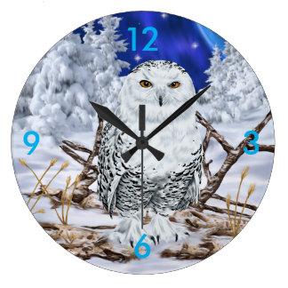 Snowy Owl ラージ壁時計