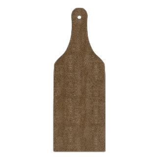Snugglyのコーヒーブラウンのスエードの質の一見 カッティングボード
