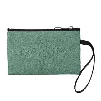 Snugglyのヒスイ緑のティール(緑がかった色)のスエードの質の一見 コインパース
