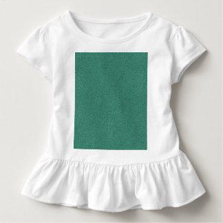 Snugglyのヒスイ緑のティール(緑がかった色)のスエードの質の一見 トドラーTシャツ